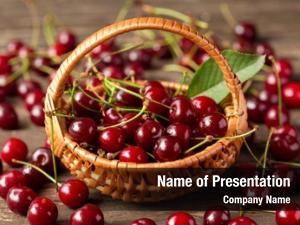 Basket, fresh cherries ripe fruits,