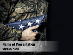 Soldier american army flag fold