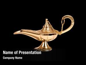 Oil antique brass lamp genie