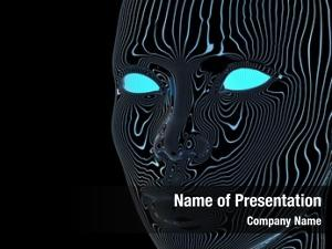 Artificial mind powerpoint background
