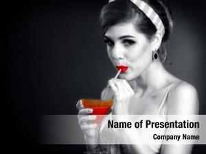 Drink retro woman martini cocktail