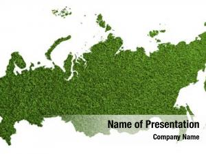 Green outline russia grass football