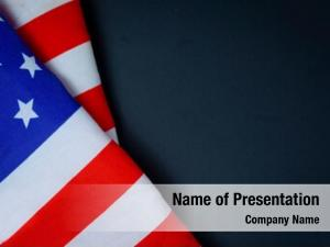 Dark american flag room text