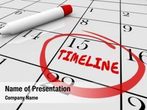 Days timeline calendar dates schedule