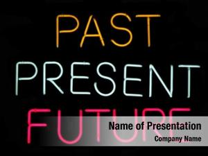 Future past, present, neon sign