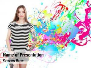 Girl young beautiful tattoo abstract