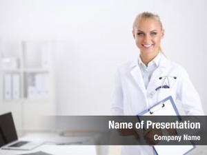 Doctor smiling female folder uniform