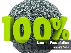 Number 100 percent symbol ball