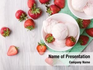 Balls of strawberry