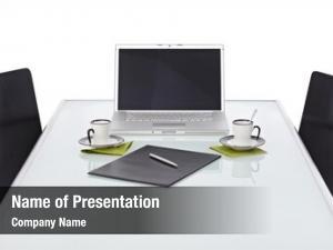 Silver office desk laptop opaque