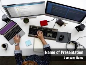 Computer programmer working software