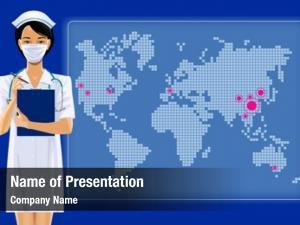 Girl asian nurse surgical mask