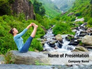 Outdoors yoga exercise panorama woman