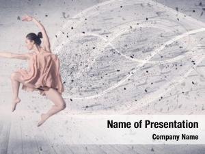 Beautiful dancer performance ballet
