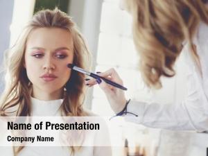 Doing make up artist make young
