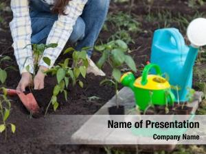 Makes girl garden planting seeds