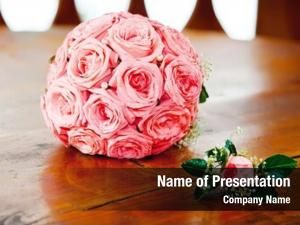 Pink wedding bouquet roses