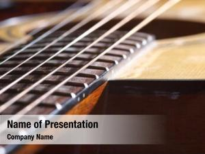 Strings color photo acoustic guitar