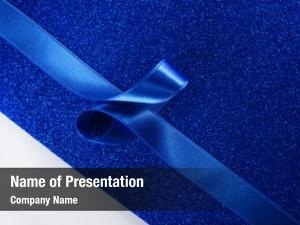 Blue blue art ribbon