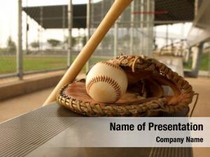 Glove baseball baseball bench