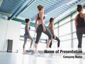 Aerobics four women gym