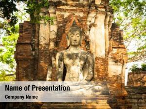 Historical buddha statue park, ayutthaya,