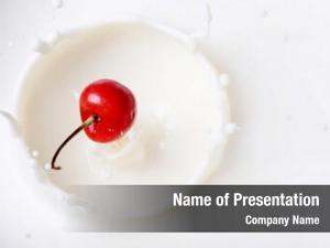 Into cherry falling milk creating