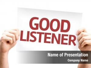 Card good listener white