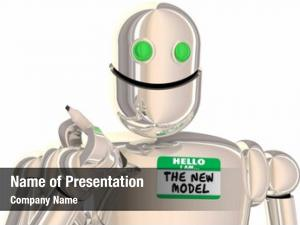 Model robot new name tag