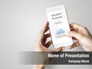 Meteorology weather forecast application concept