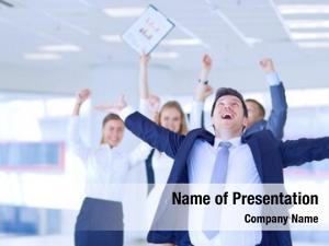 Businessman portrait young office colleagues
