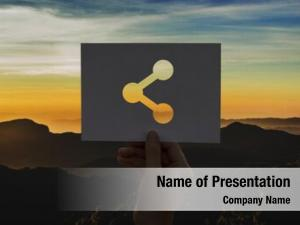 Connection online powerpoint template