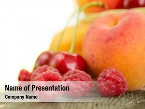 Sweet fresh ripe fruits wooden