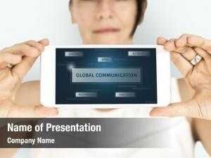 Graphic of global communication
