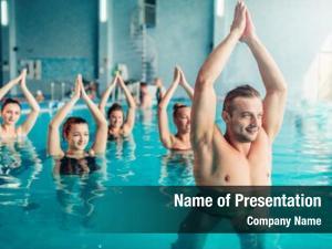 Recreational women aqua aerobics