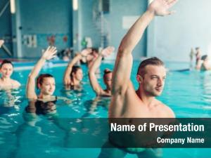 Recreational aqua aerobics in water