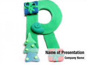 Alphabet, color plasticine