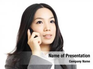 Woman asian business phone call