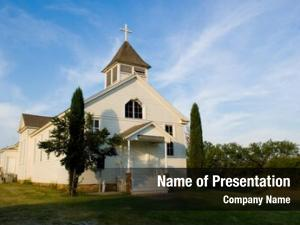 Country old american church,