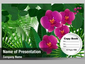 Copybook template cover trendy design: