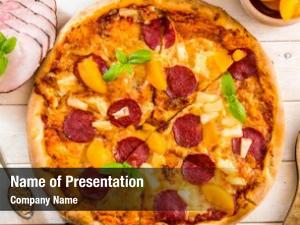 Pineapple exotic pizza peach food