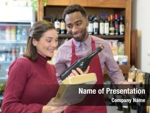 Bottle woman purchasing wine