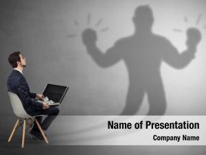 Offering businessman staying stuffs shadow