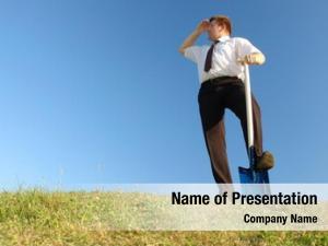 Shirt businessman white tie standing