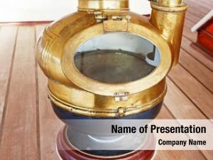 Brass ancient sea compass ship
