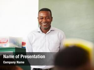 Elementary school portrait of male teacher