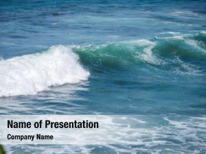 Tropical blue wave ocean