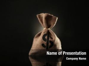 Black money bag
