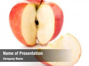 White sliced apple