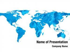 Map flat world water